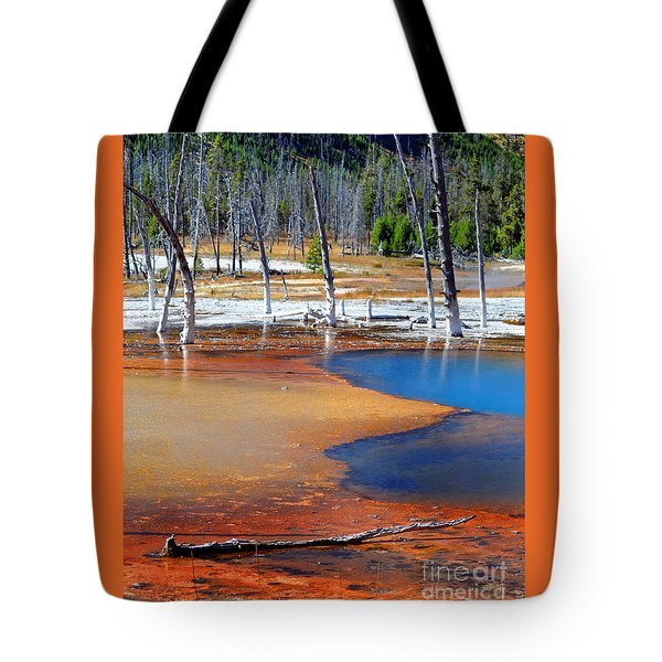 Acid Soup Yellowstone Tote Bag by Diane E Berry
