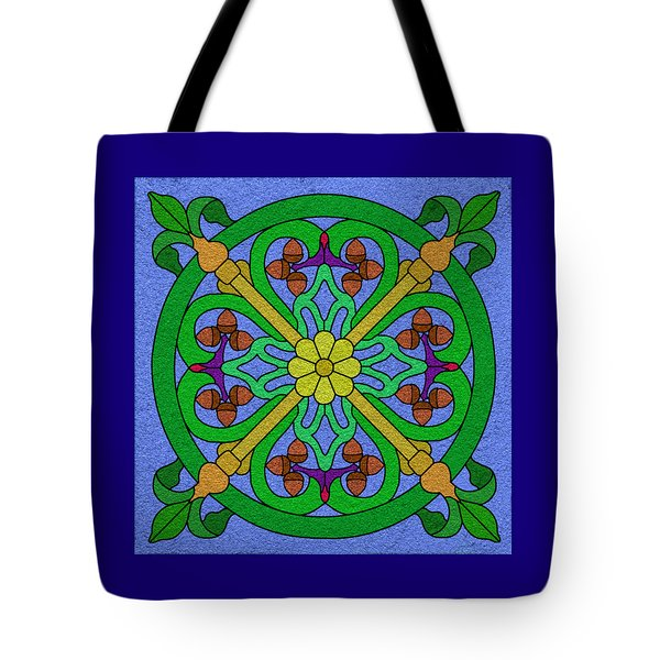 Acorn On Blue Tote Bag