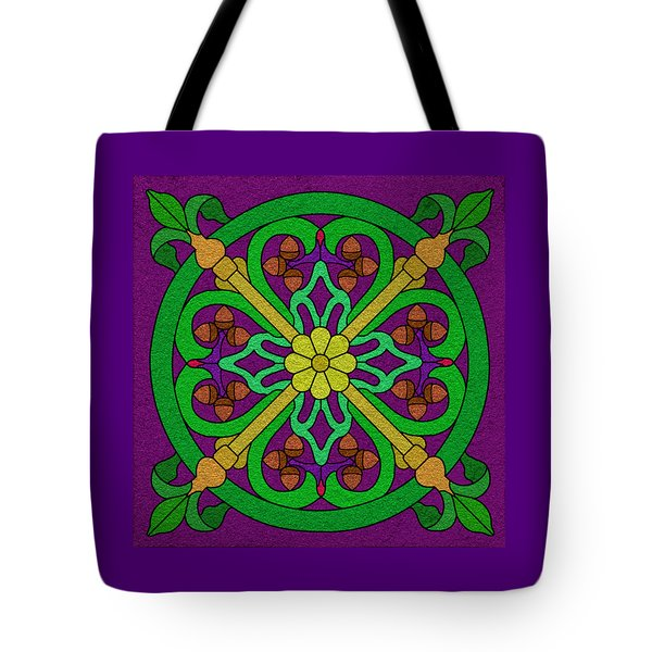 Acorn On Dark Purple Tote Bag