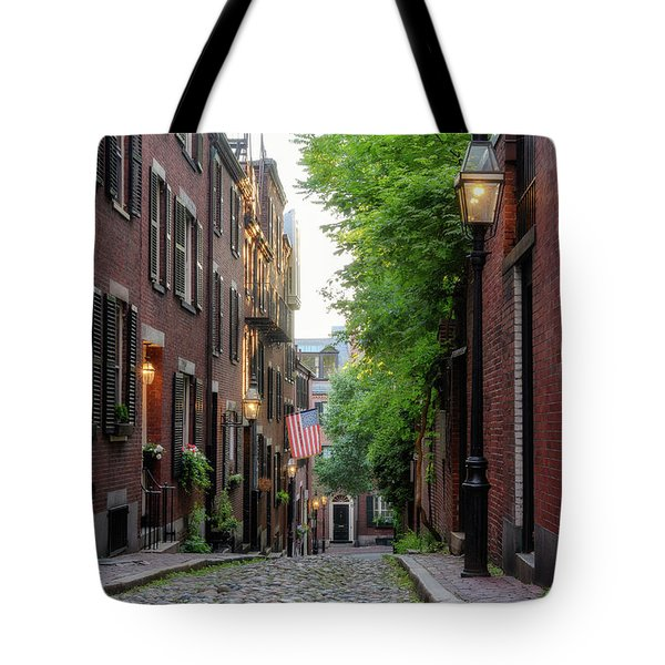 Tote Bag featuring the photograph Acorn St. 1 by Michael Hubley