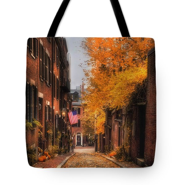 Acorn St. Tote Bag by Joann Vitali