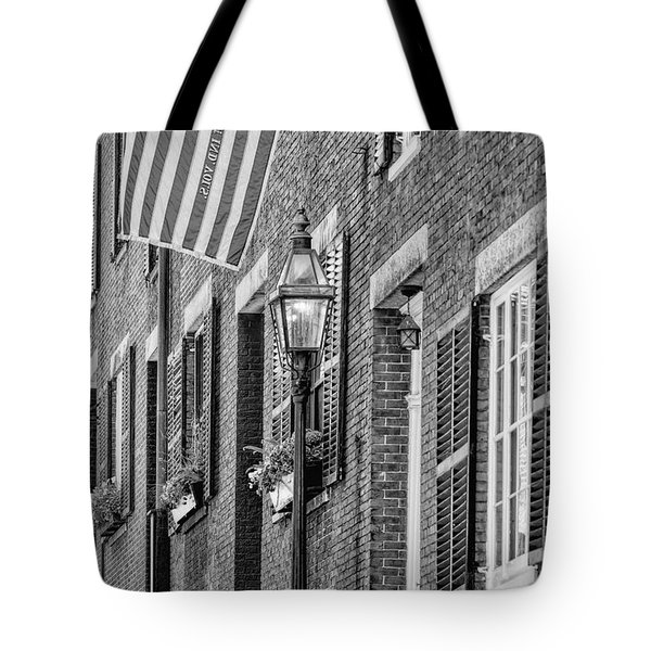 Acorn Street Details Bw Tote Bag