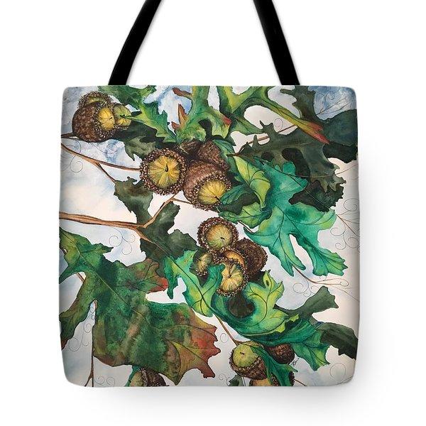 Acorns On An Oak  Tote Bag