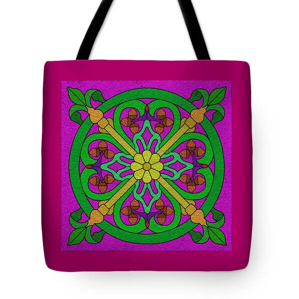 Acorns On Hot Pink Tote Bag