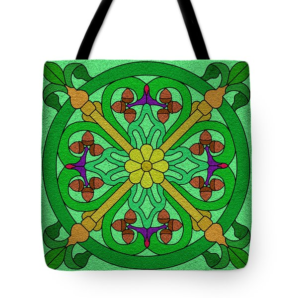 Acorns On Light Green Tote Bag