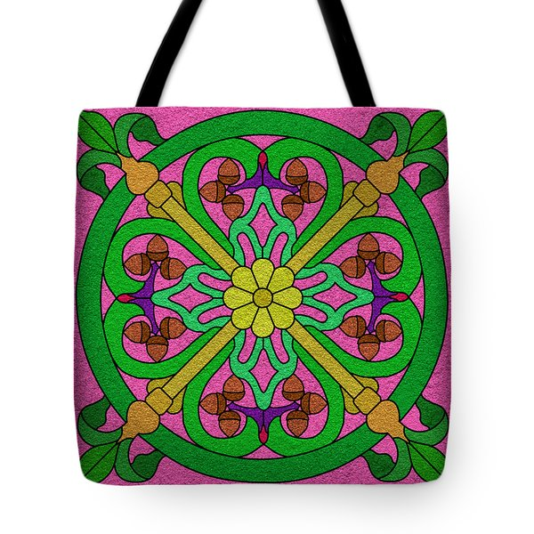 Acorns On Pink Tote Bag