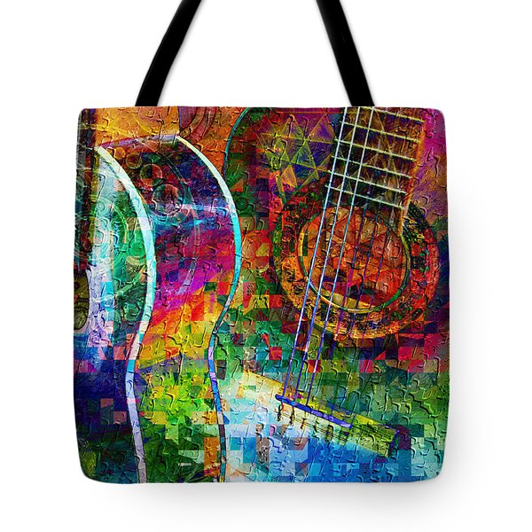 Acoustic Cubed Tote Bag