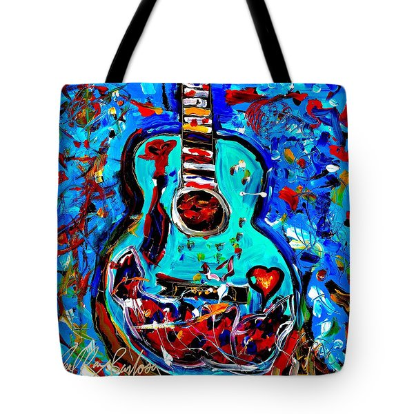 Acoustic Love Guitar Tote Bag