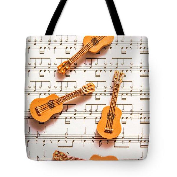 Acoustic Quartet Tote Bag