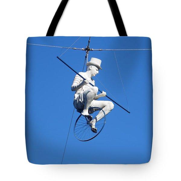 Acrobat Act Statue Tote Bag