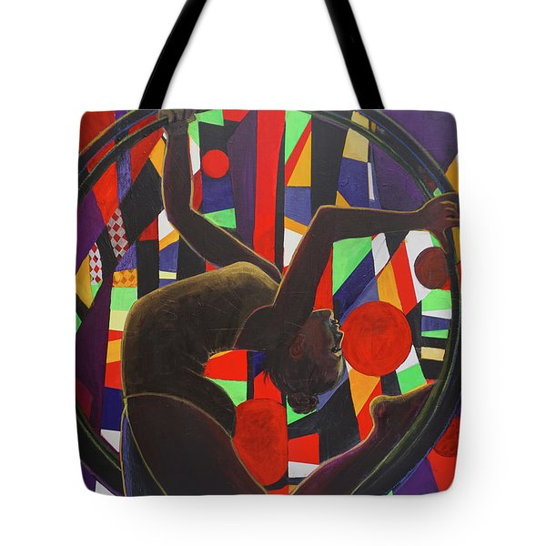 Acrobat In Ring Tote Bag