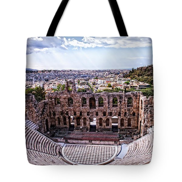 Tote Bag featuring the photograph Acropolis by Linda Constant