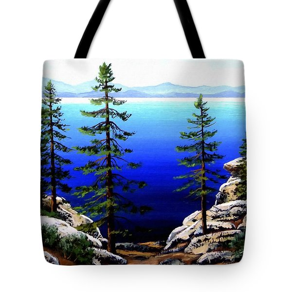 Across Lake Tahoe Tote Bag