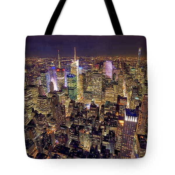 Tote Bag featuring the photograph Across Manhattan by Ross Henton