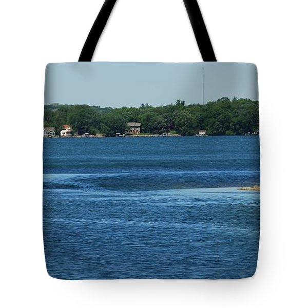 Tote Bag featuring the photograph Across The Bay by Ramona Whiteaker