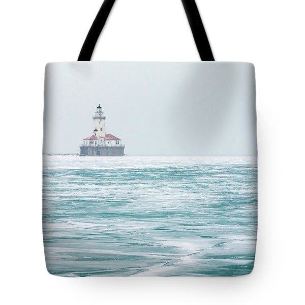 Across The Frozen Lake Tote Bag