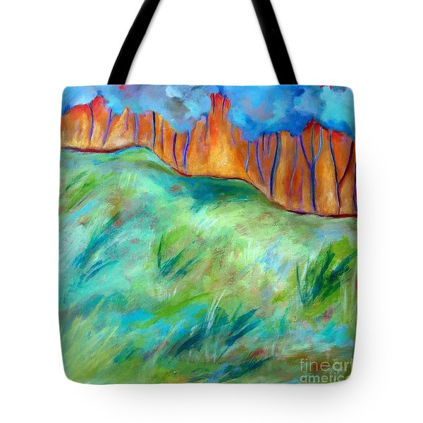 Across The Meadow Tote Bag by Elizabeth Fontaine-Barr
