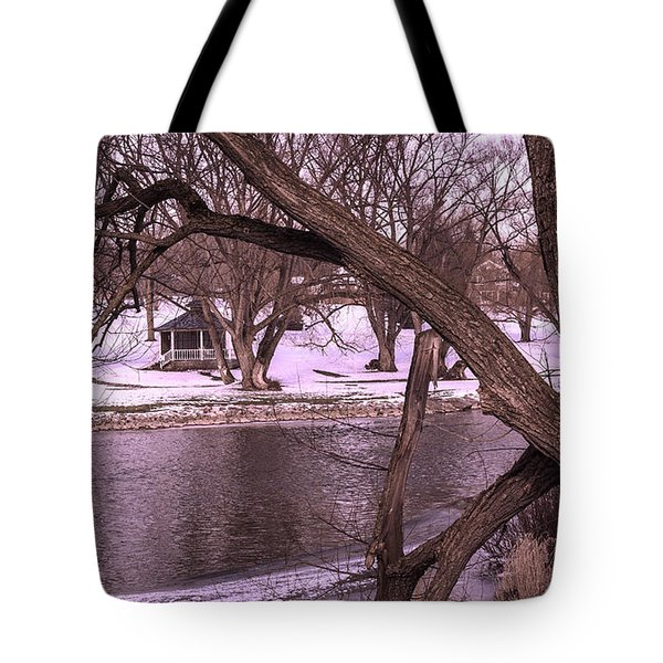 Across The River Tote Bag by Anne Witmer