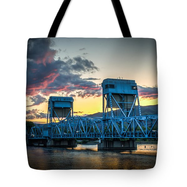 Across The River Tote Bag by Brad Stinson