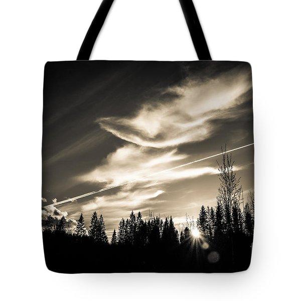 Across The Sky Tote Bag