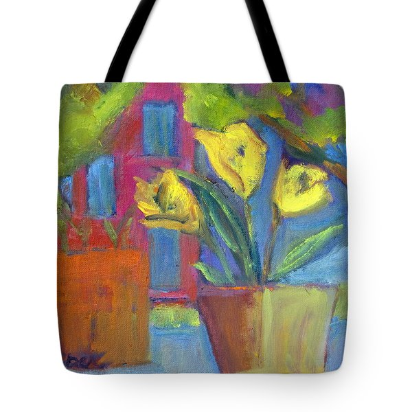 Across The Street From My Window Sill  Tote Bag by Betty Pieper