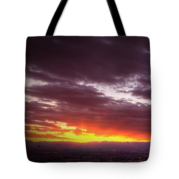 Across Vegas Sunset Tote Bag