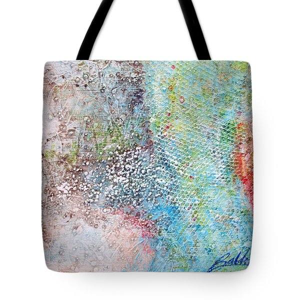 Tote Bag featuring the painting Abstract 201108 by Rick Baldwin