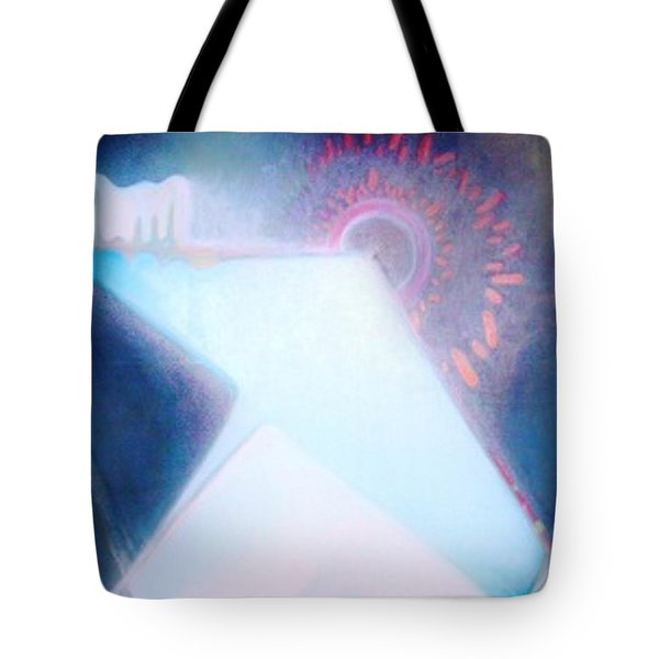 Tote Bag featuring the painting Act Of Creation by Denise Fulmer