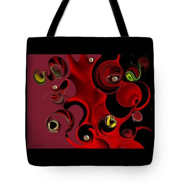 Act With Manufactured Energy Tote Bag by Carmen Fine Art