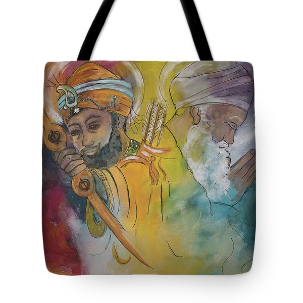 Action In Peace Tote Bag