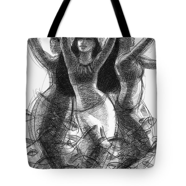 Action Song Dancers With Fish Pareu Tote Bag