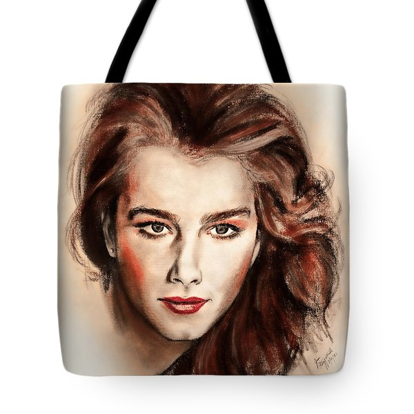 Actress And Model Brooke Shields II Tote Bag
