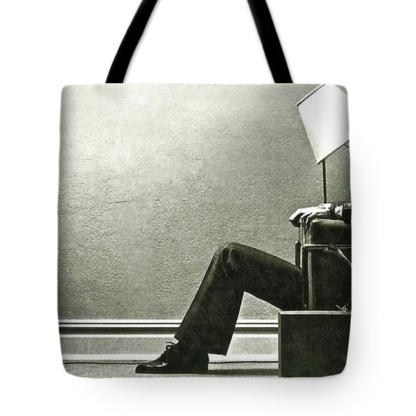 Ad, Maxwell Tapes, Blown Away Guy Tote Bag