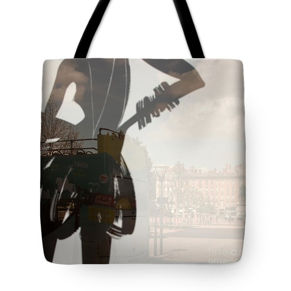 Ad Stand Reflection Tote Bag