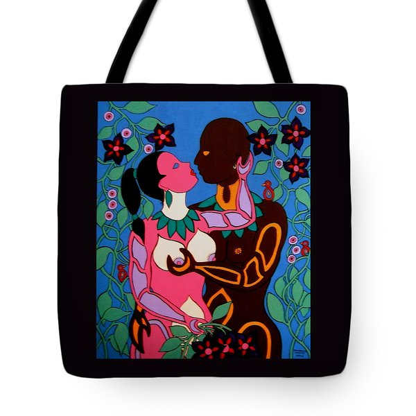 Adam And Eve Tote Bag by Stephanie Moore
