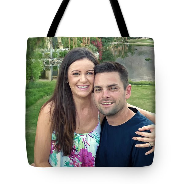Tote Bag featuring the painting Adam And Lys by Michael Pickett