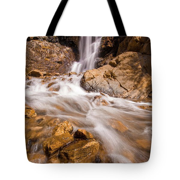Adams Canyon Waterfall Flow Tote Bag