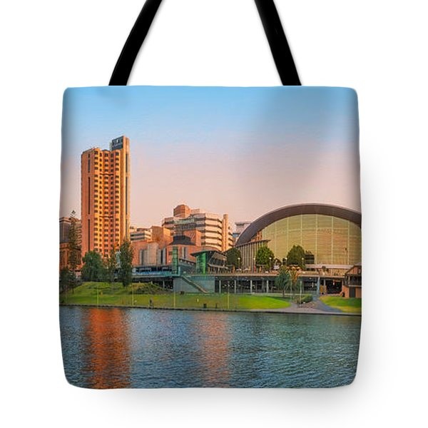 Adelaide Riverbank Panorama Tote Bag