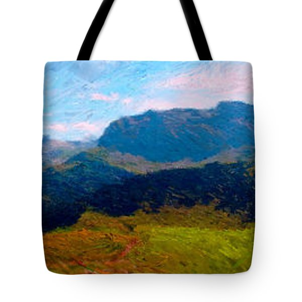 Adelboden With Hiker Tote Bag by Gerhardt Isringhaus