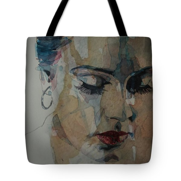 Tote Bag featuring the painting Adele - Make You Feel My Love  by Paul Lovering