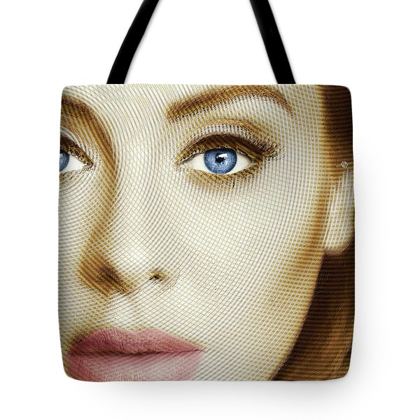 Adele Painting Circle Pattern 1 Tote Bag by Tony Rubino