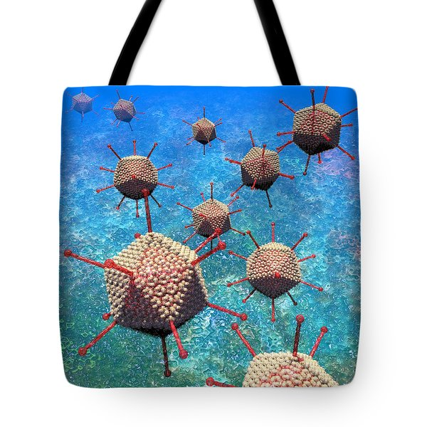 Adenovirus Particles 3 Tote Bag