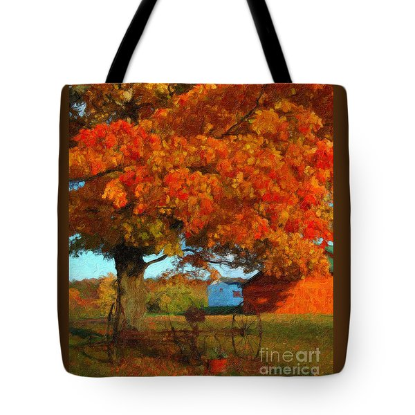 Adirondack Autumn Color Brush Tote Bag by Diane E Berry