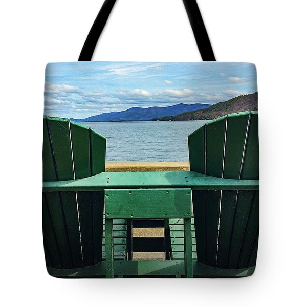 Adirondack Chair For Two Tote Bag