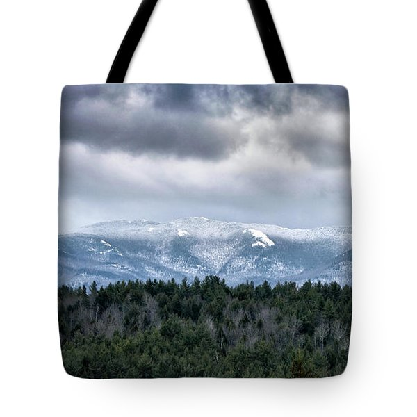 Tote Bag featuring the photograph Adirondack High Peaks During Winter - New York by Brendan Reals