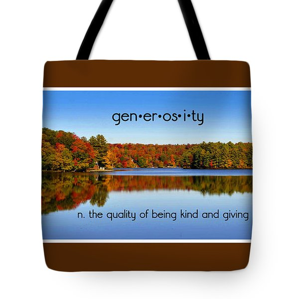 Tote Bag featuring the photograph Adirondack October Generosity by Diane E Berry