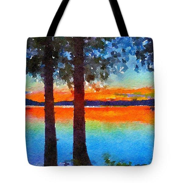 Adirondack Sunset Tote Bag