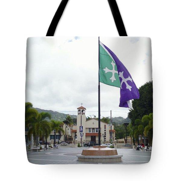 Adjuntas, Puerto Rico Flag Tote Bag