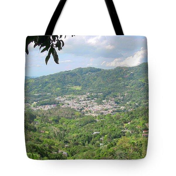 Adjuntas Town Tote Bag