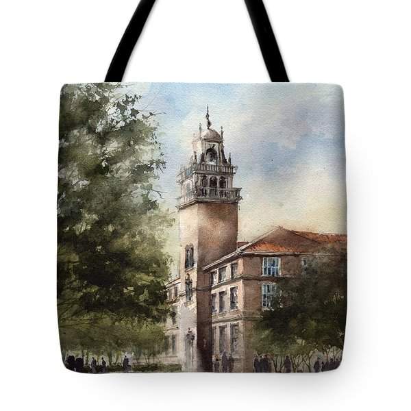 Administration Building At Texas Tech University Tote Bag